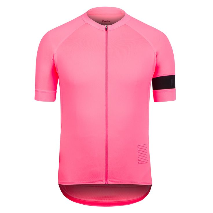 The new Rapha Pro Team Jersey. Very pink, with style. You better perform when wearing this one.