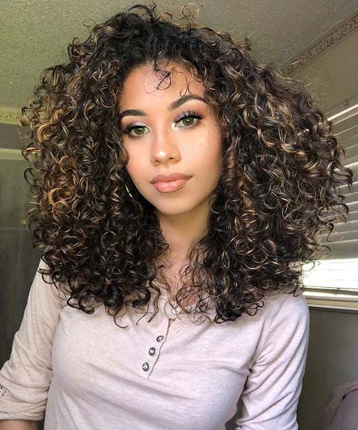 23 Different Ways To Rock Dark Brown Hair With Highlights Stayglam Highlights Curly Hair Natural Curls Hairstyles Hair Highlights