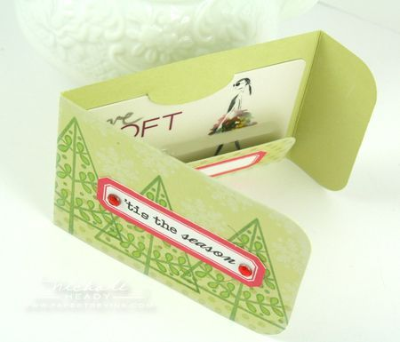 Gift card holder by Nichole Heady for Papertrey Ink (October 2011).