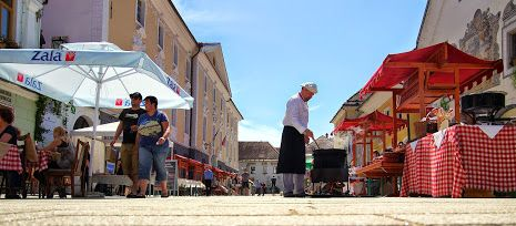 The Ceramics Festival in the old town, Radovljica