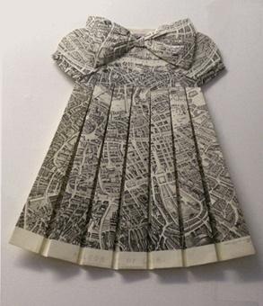 ℘ Paper Dress Prettiness ℘  art dress made of a map