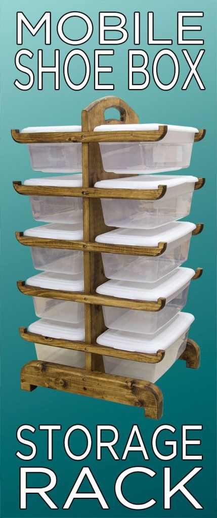 pinterest-shoe-box-rack- This would be good in a craft room too. I like it!!