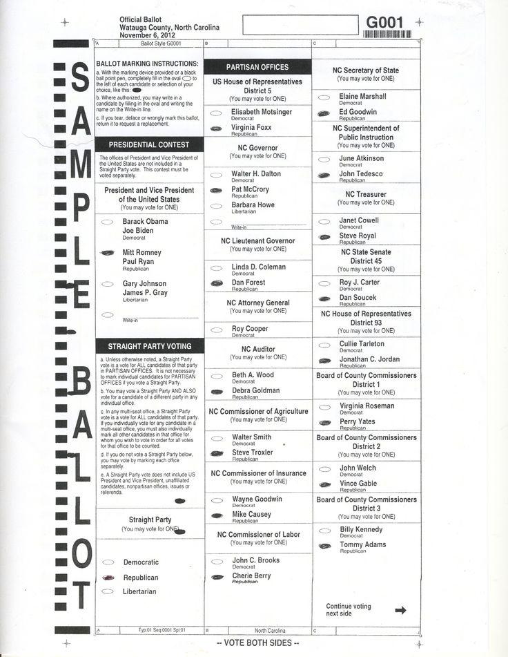 60 best Ballot design images on Pinterest | Sample ballot ...