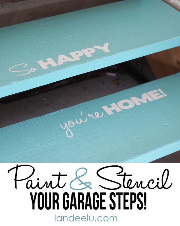Garage Steps Can Be Pretty Too - Landee See Landee Do