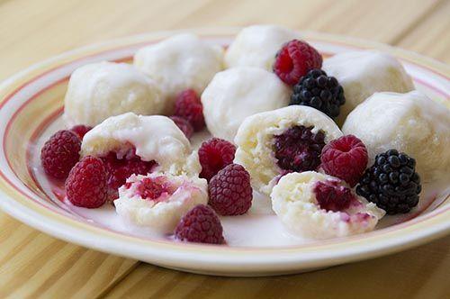 Lazy Varenyky with Blackberries, Raspberries, and Wild Strawberries