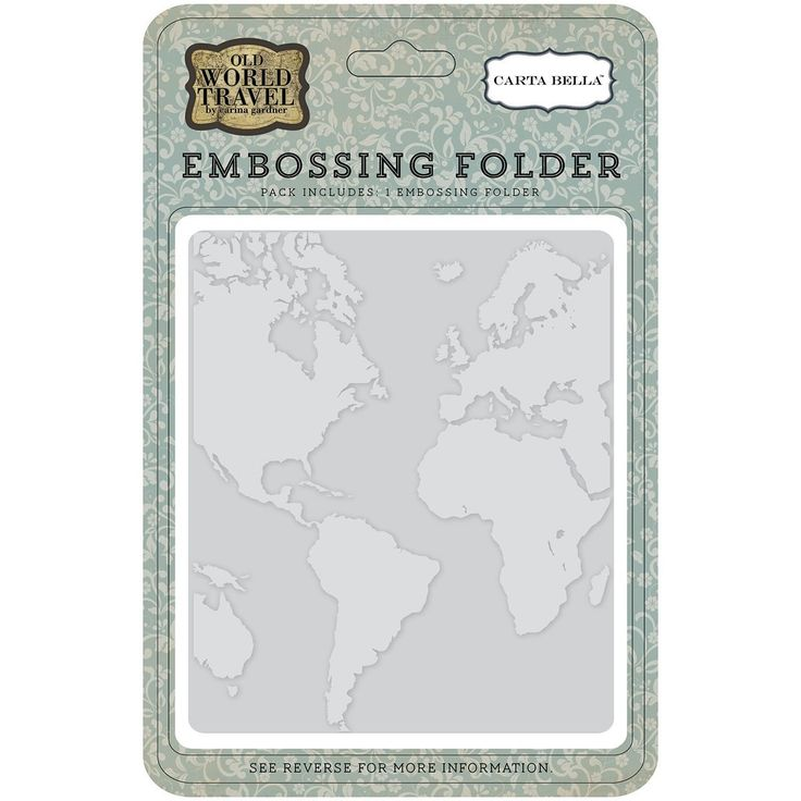 Echo Park Paper CBOWT53031 N/A Carta Bella Embossing Folder 5'X5.875'-World Map -- Want to know more, click on the image.