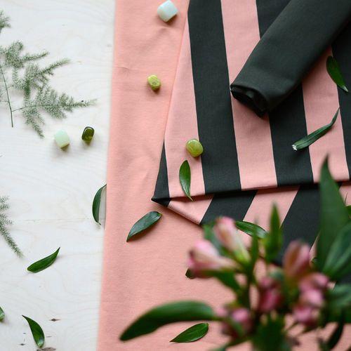 Maxiraidat, olive/papaya  | NOSH Fabrics Spring & Summer 2016 Collection - Shop at en.nosh.fi | Kevään 2016 malliston kankaat saatavilla nyt nosh.fi