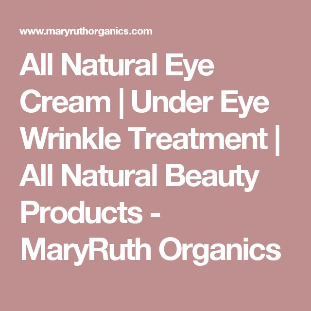 All Natural Eye Cream | Under Eye Wrinkle Treatment | All Natural Beauty Products - MaryRuth Organics