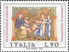 1971 dall'Evangeliario di Matilde conservato nell'abbazia di Nonantola