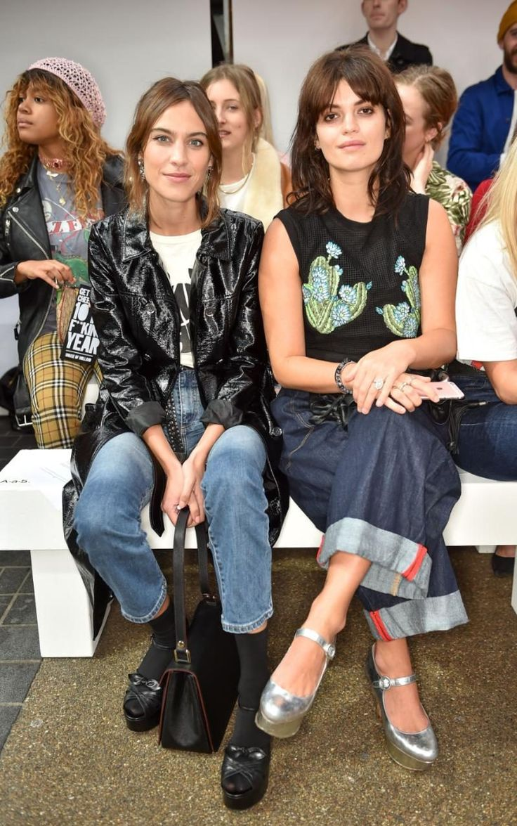 Alexa Chung and Pixie Geldof at House of Holland