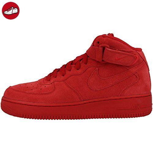 Nike Schuhe Air Force 1 Mid (GS) Unisex gym red-gym red-white, 38,5, rot - Nike schuhe (*Partner-Link)