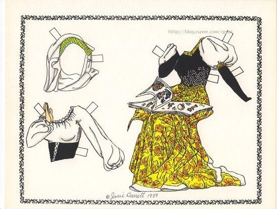 """종이인형 (잠자는 숲속의 미녀) : 네이버 블로그* 1500 free paper dolls international artist Arielle Gabriel""""s The International Paper Doll Society for pinterest paper doll pals *"""