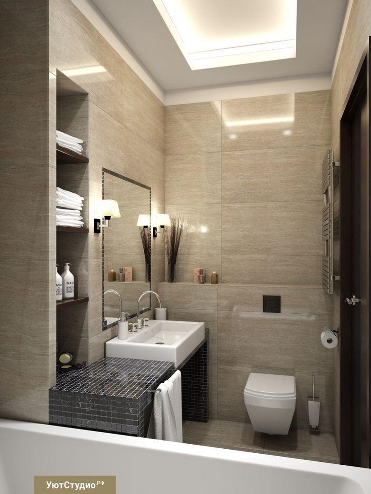 Кстати, во всех своих проектах, как например в этой ванной комнате, мы никогда не кладем плитку вплотную к потолку☝️ Для нас нет ничего хуже, чем увидеть под потолком обрезки плитки неподходящих пропорций. Такой ляп абсолютно неприемлем для нашего видения красоты и эстетики ✨ #СОВЕТЫ_УЮТ #интерьер #дизайнспальни #студиядизайна #ремонтквартирподключ #интерьерванной #интерьерказань #дизайнерское #квартираспб #ремонтофиса #дизайнерростов #кухнипитер #дом #дизайнерворонеж #современный_интерьер…