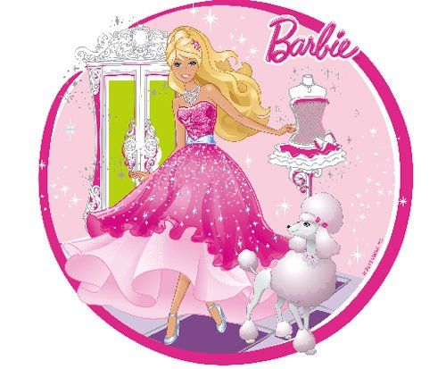 11 90 Barbie Edible Cupcake Toppers Decoration From