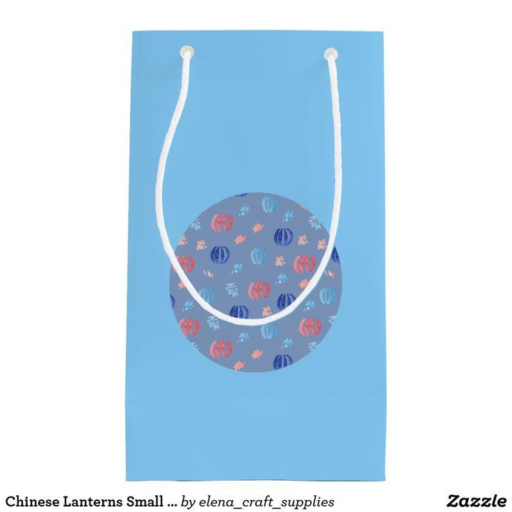 Chinese Lanterns Small Glossy Gift Bag
