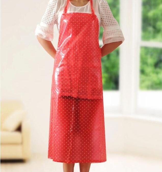PVC Apron Men Women Practical Waterproof Anti-oil Pollution Aprons Home Household Cleaning Accessories Butcher Apron 2017 Schort