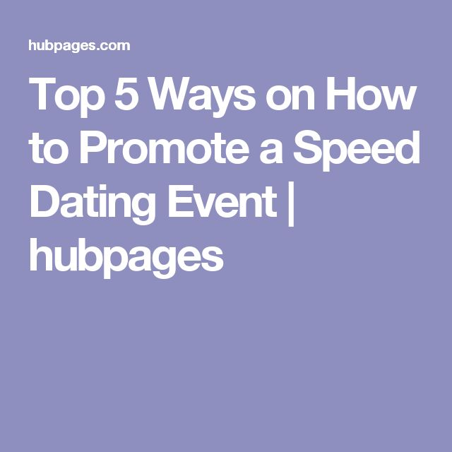 how to promote a speed dating event