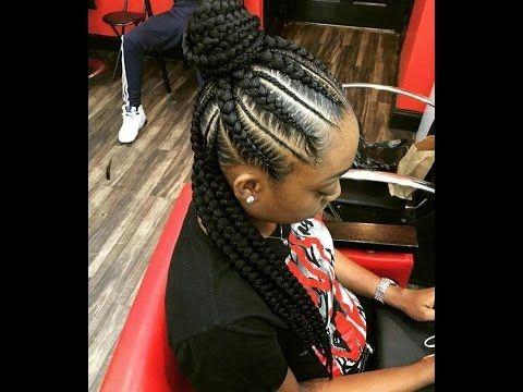 Trendy Cornrows + Ghana Weaving Styles For Ladies
