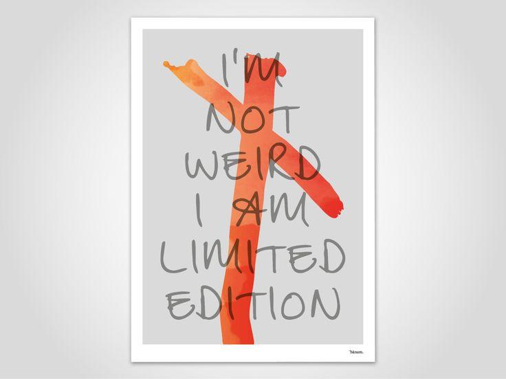MARILYN MONROE — moderne Poster, abstrakte Kunstdrucke, zeitgemäß, Art Prints,  minimalistisch, Lippenstift, Literatur, Zitat, rot, grau von banum auf Etsy