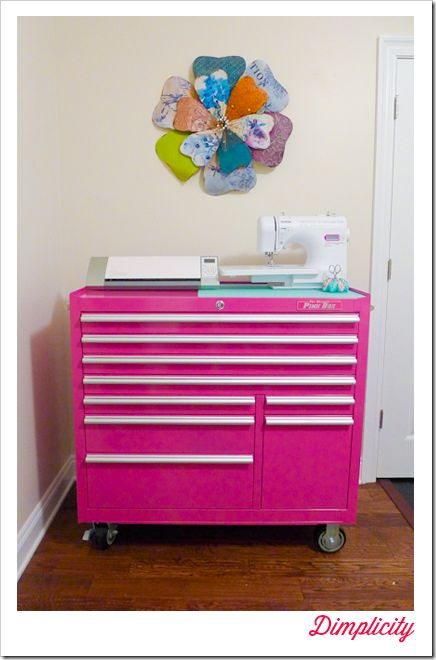 Tool Box Craft Storage. The Original Pink Box for organizing