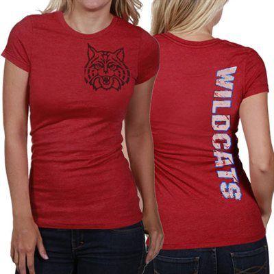 My U Arizona Wildcats Ladies Afterthought Slim Fit T-Shirt - Cardinal