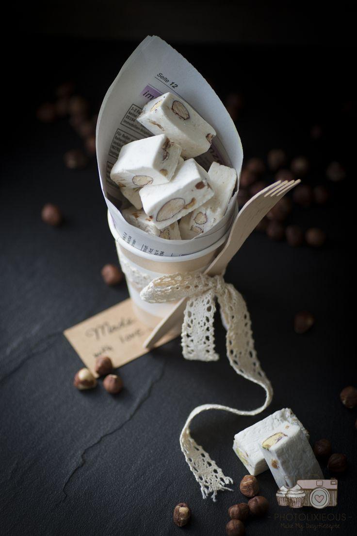 weißer Nougat mit Mandeln, Haselnüssen und Pistazien-Rezept-8