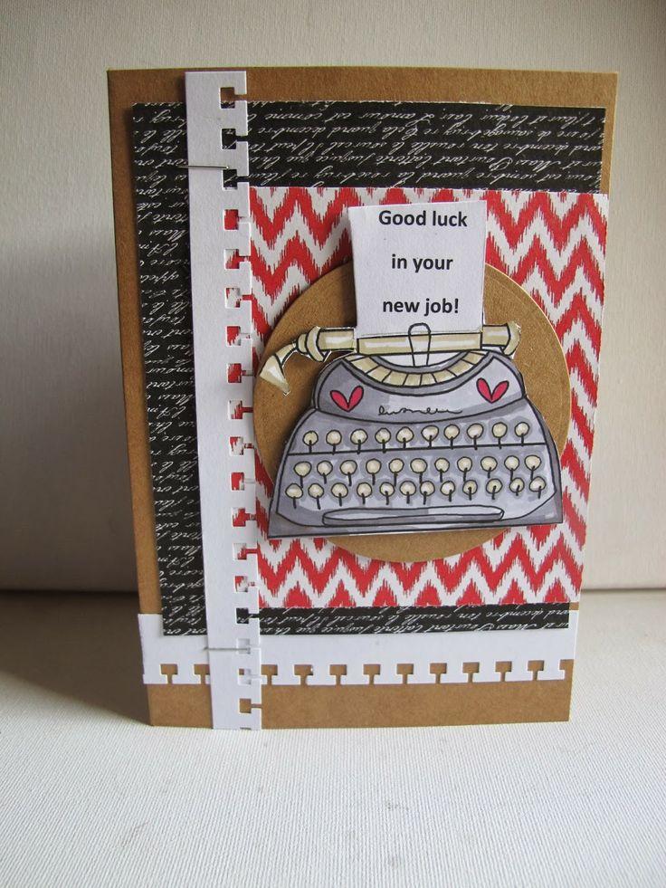 Papercraft Inspirations New Job Cards....