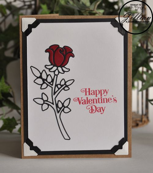 Happy Valentine's Day card by Beth Pingry. Stamp and die by @ajillianvance Adhesives by @SBAdhesivesby3L, ink by @clearsnap