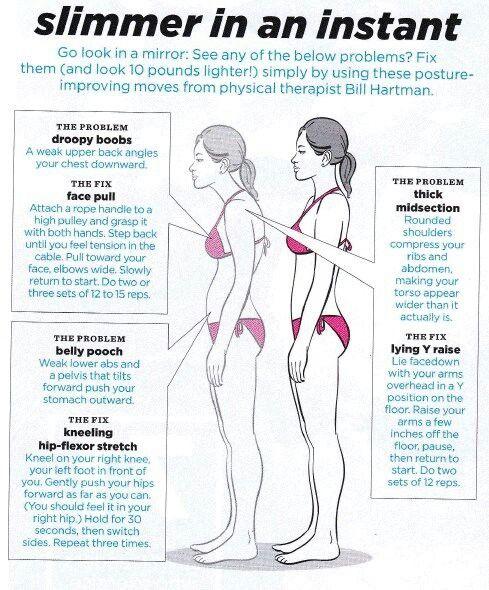 Posture stretches bad posture fix