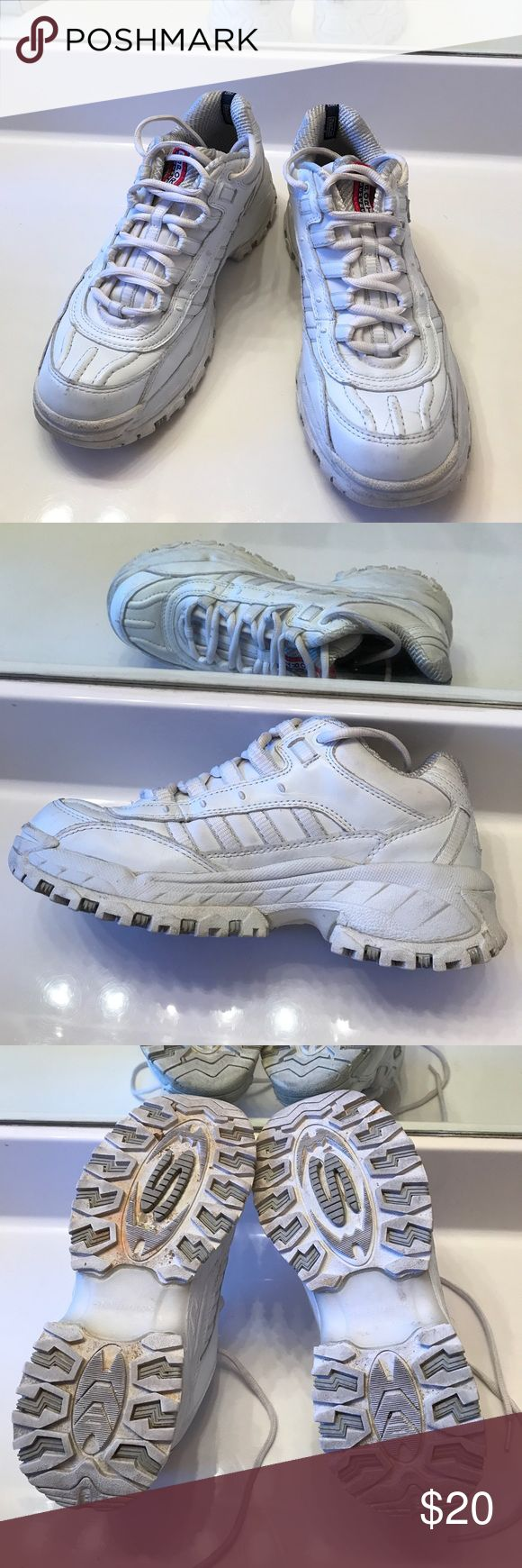 White Skechers Sized 7.5 Shoes Athletic Shoes