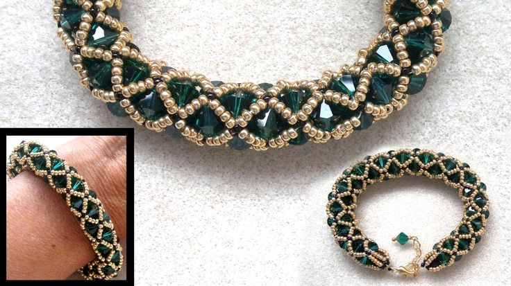Video:  Beading4perfectionists : Netted bracelet with 6mm Swarovski and seedbeads ~ Seed Bead Tutorials