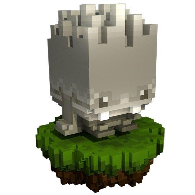 A little stone sprite for Qublar i've modeled out of voxels - modeling in