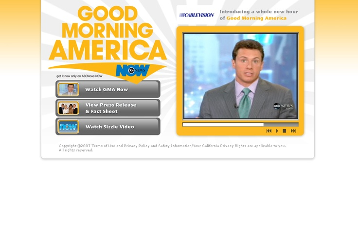 Good Morning America Email : Best images about interactive on pinterest landing