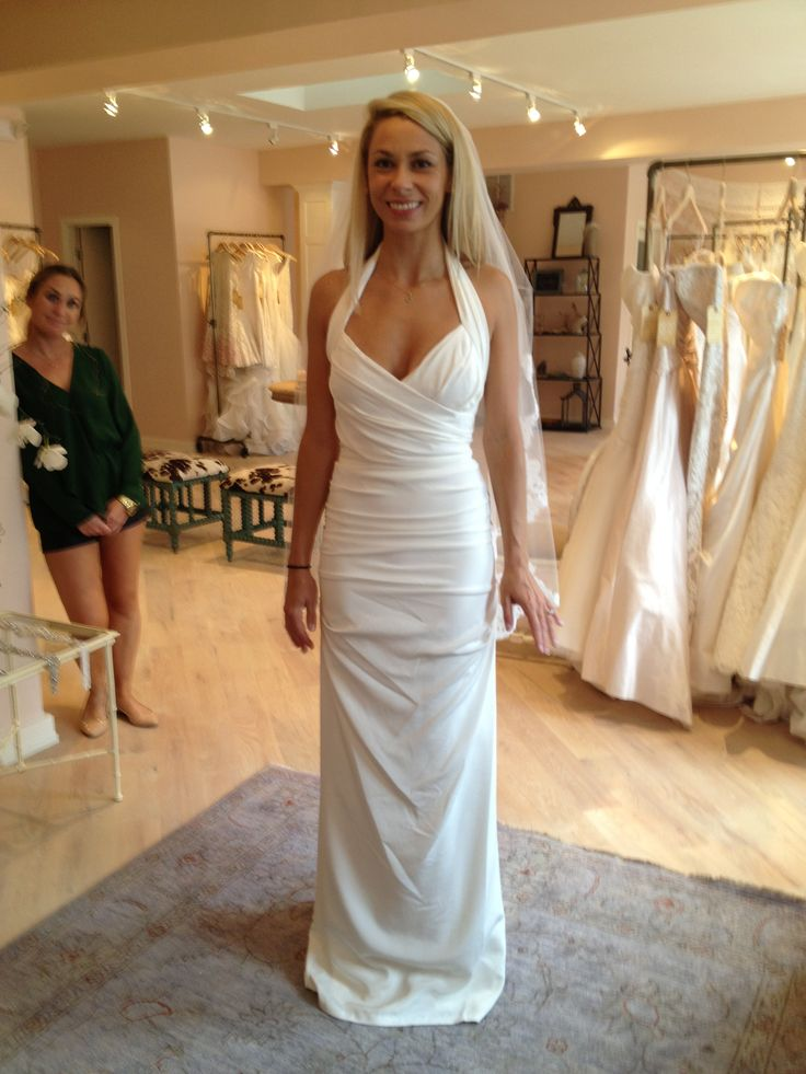 Nicole Miller Marilyn Gown Front Lovely Bride In Gtown