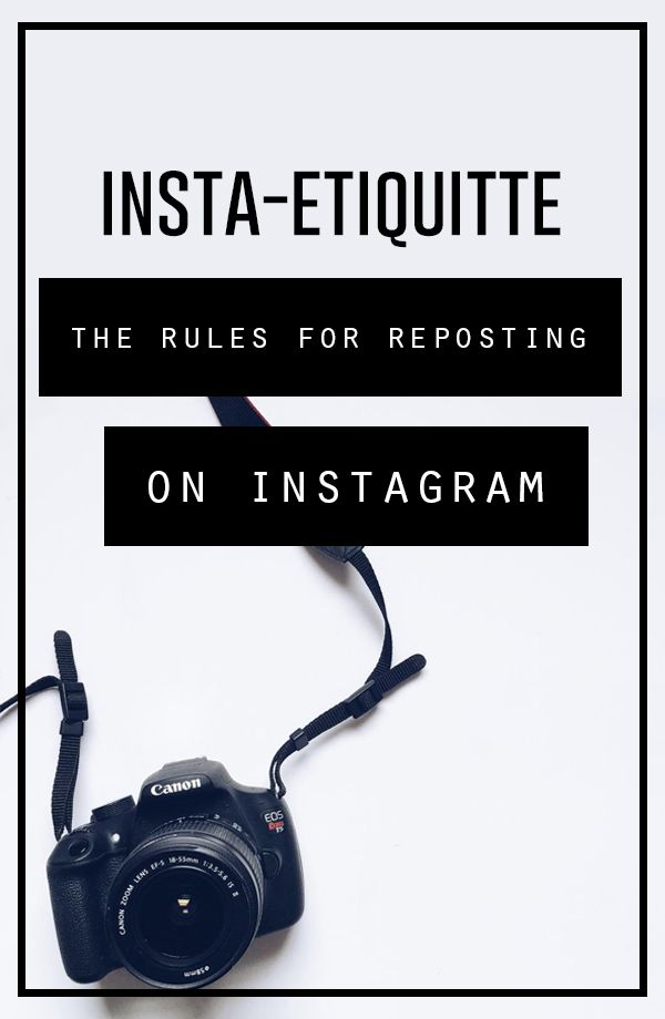Instagram etiquette: How to properly re-post content made by others on Instagram. << Small Talk Social