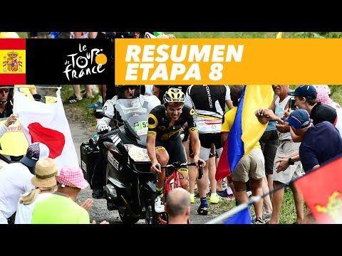 Resumen - Etapa 8 - Tour de France 2017 - VER VÍDEO -> http://quehubocolombia.com/resumen-etapa-8-tour-de-france-2017    El Tour de Francia 2017 saldrá, por primera vez, desde la ciudad alemana de Düsseldorf. A partir del sábado 1° al domingo 23 de julio de 2017, la edición número 104 del Tour de Francia contará 21 etapas con un recorrido total de 3 521 kilómetros. CALMEJANE Lilian (DIRECT ENERGIE) ha ganado la...