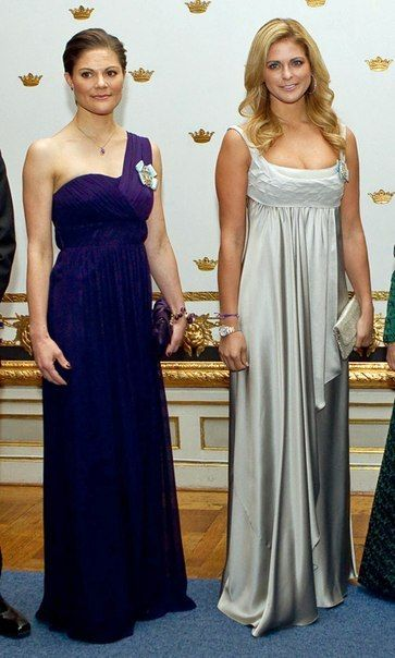 Royal Sisters... Crown Princess Victoria of Sweden and Princess Madeleine of Sweden