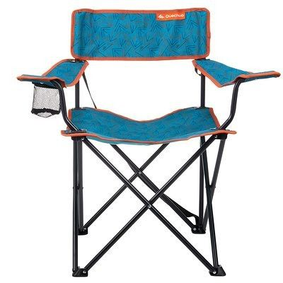 Camping furniture Camping - Camping Folding Armchair - Arrows Blue QUECHUA - Camping Equipment