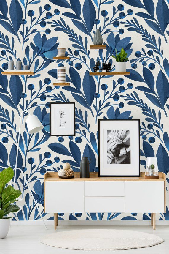 Removable Wallpaper Peel And Stick Wallpaper Self Adhesive Wallpaper Blue Floral Pattern Removable Wallpaper Peel And Stick Wallpaper Bathroom Wallpaper