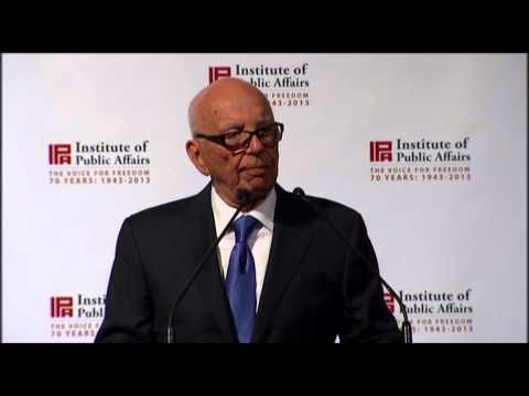 Rupert Murdoch says free markets are not just the most efficient system, but also the most moral one.  On 4 April 2013 Rupert Murdoch addressed the 70th Anniversary Dinner of the Institute of Public Affairs in Melbourne. To find out more, visit www.ipa.org.au