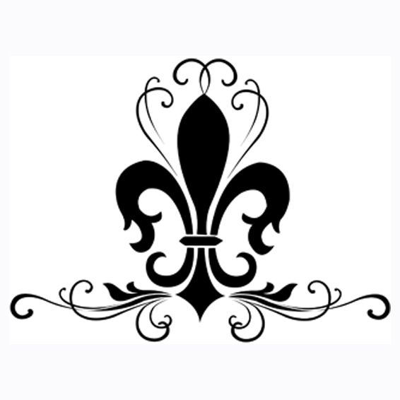 Always thought if I got a tattoo, I'd get a fleur de lis design.  I like this- it'd be cool in white. Not as visible but, I'd know it's there!