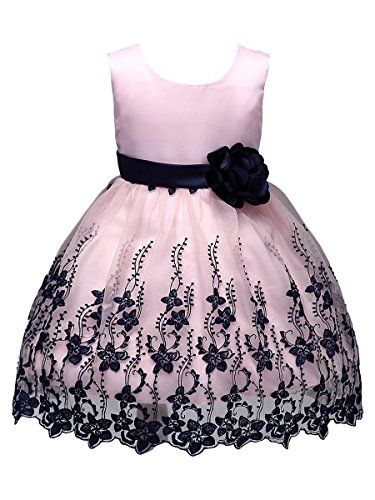 BAIXITE Girl Ball Dress Party Sleeveless Embroidery School Daily Dresses  12dddbc7bc