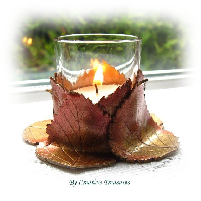SEPTEMBER 2012 - Autumn / Harvest - Polymer Clay Votive Holder, by Creative Treasures, £8.50