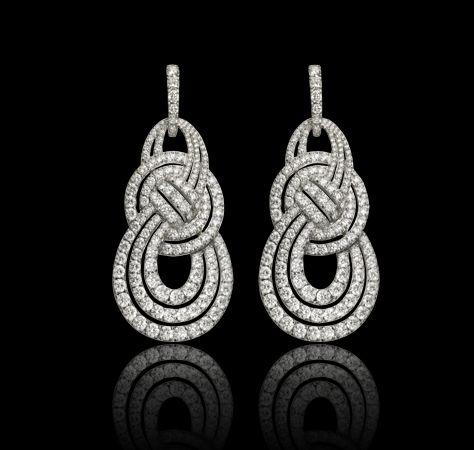 Entanglement earrings with pavé white di Earrings Jewellery Garrard