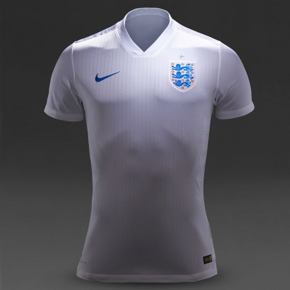Nike England SS Home Match Shirt - White/Royal