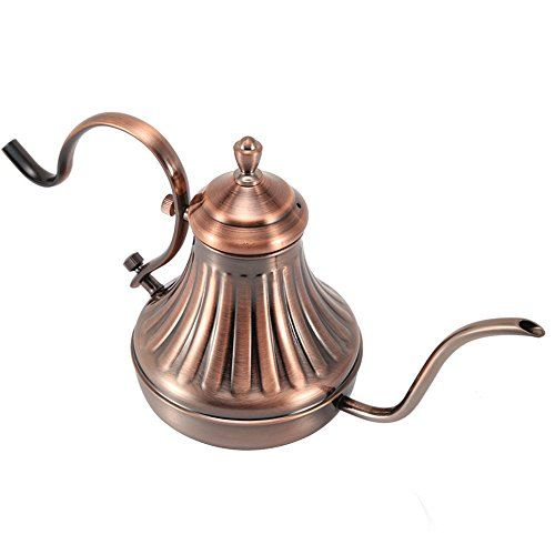 Lautechco 650ml Stainless Steel Palace Hand Drip Coffee Pot Fine Mouth Pot Tea Pot Necessary Tools for Hand Coffee * Read more at the image link.