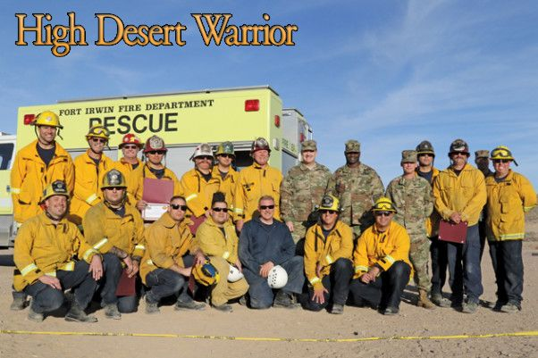Seventeen firefighters from the Fort Irwin Fire Department supported the state response to California wildfires last year, including the Napa Fires, the Thomas Fire, and the Canyon Fire. They also responded to wind events in Phelan. Here, members of the department are shown with the Fort Irwin Garrison Command Team Jan. 31. #fortirwinarmynews