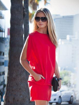 Kleid - überschnittene Schultern