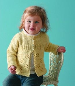 Girl's Knit Cardigan Sweater - free pattern