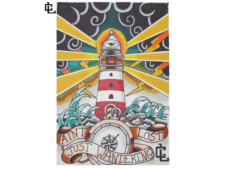 lighthouse piece- curtis lawson art